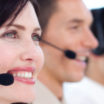 Happy call center specialists
