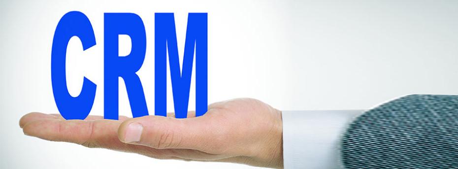 Man holding the acronym CRM